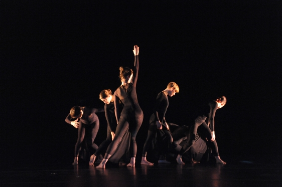 Dancers depicting the spacetime fabric. (Copyright Stan Barouh http://stanbarouhphotography.smugmug.com/Theater/University-of-Maryland-School)