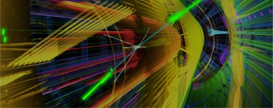 Artist's rendition of a high-energy collision inside a particle detector (Image: CERN)